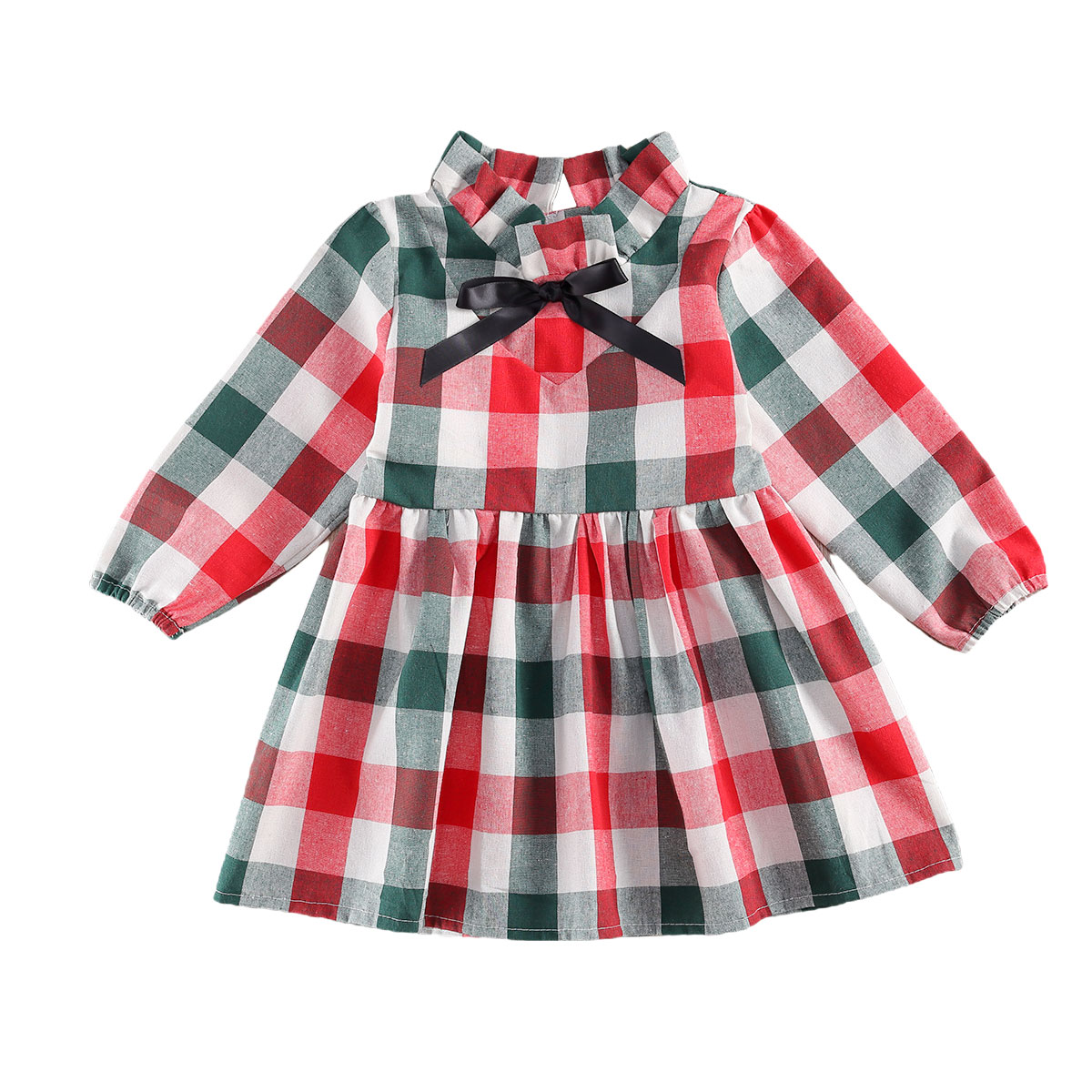 Biayxms - Infant Baby Girls Plaid Christmas Dress A Line Dresses with  Bowknot Girl Xmas Christmas Party Tunic Dress - Walmart.com