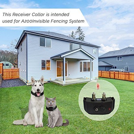 Pet Fence System for Pet Barrier Fencing  - Invisible Outdoor Fence with Boundary Marks and Rechargeable Receiver Collar