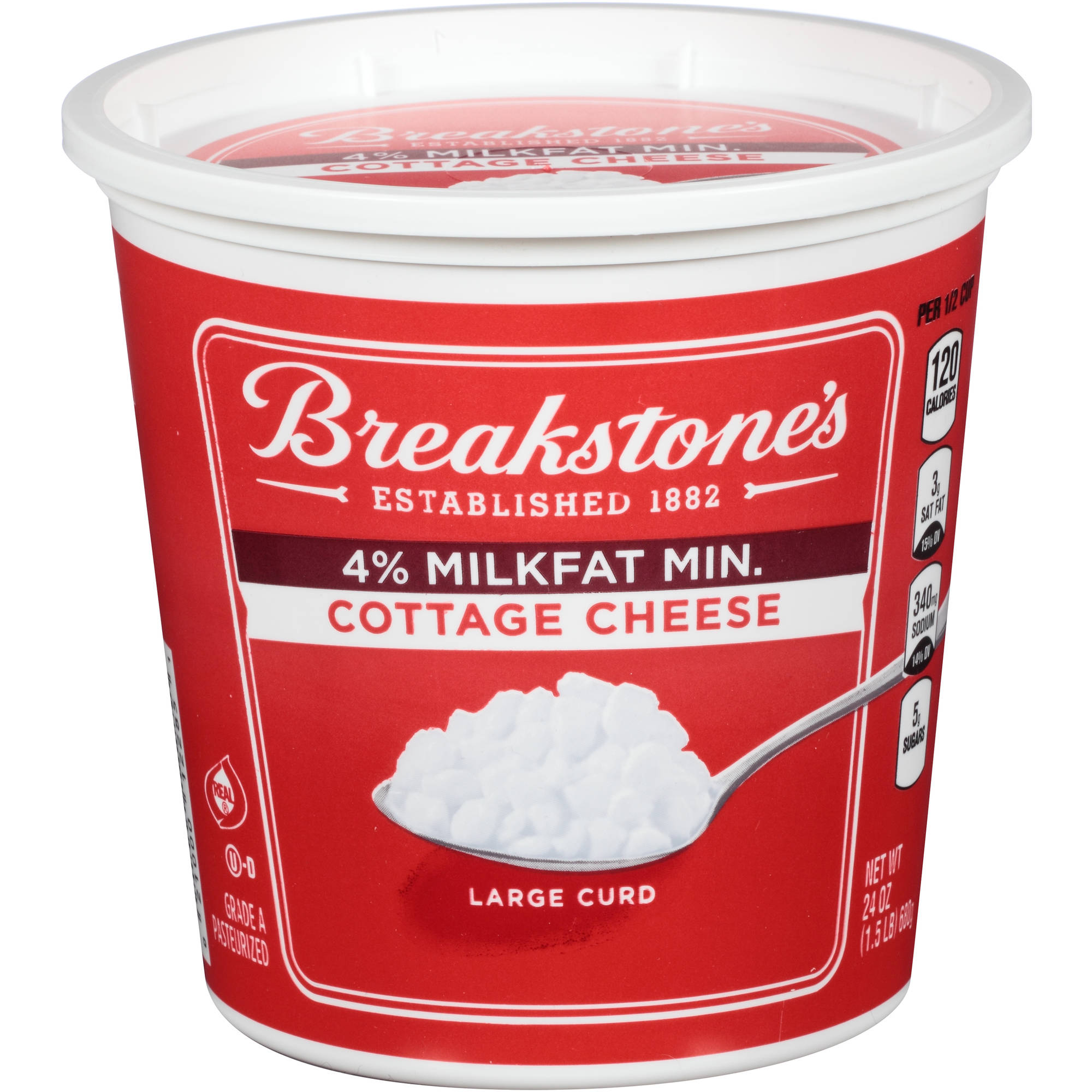 Breakstone's Large Curd Cottage Cheese, 24 oz