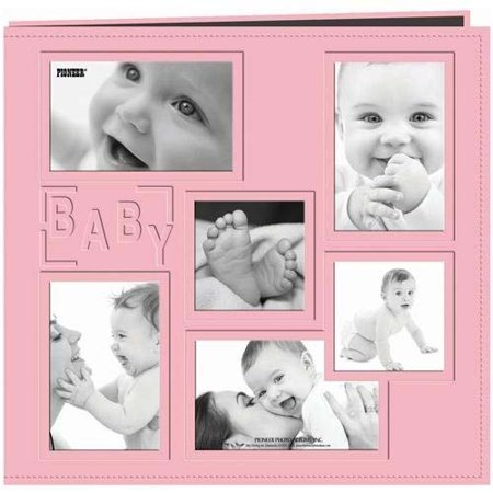 Large Square Album - Pioneer Baby Collage Frame Large Photo Album (Pink)