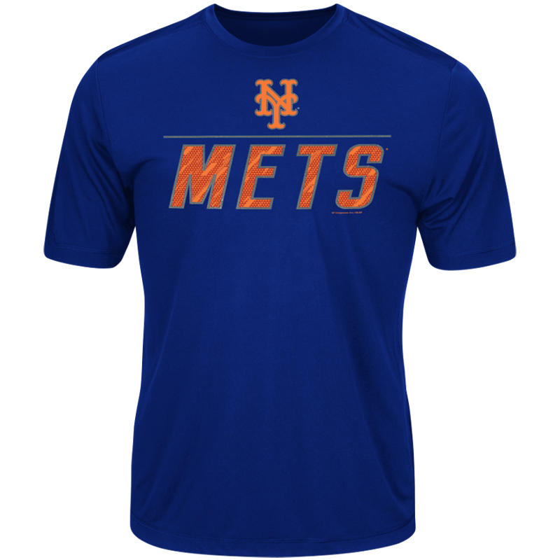 Men's Majestic Royal New York Mets Big Athletic TX3 Cool Fabric T-Shirt