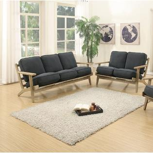 Spitak Loveseat and Sofa Upholstered in Denim Fabric