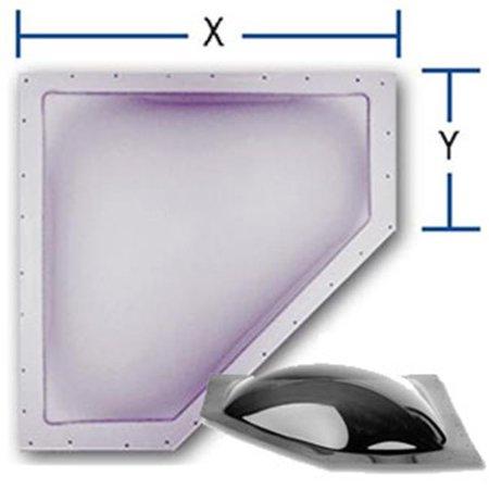 20 x 8 in. Neo Angle Skylight, Smoke 3636 Neo Neo Angle