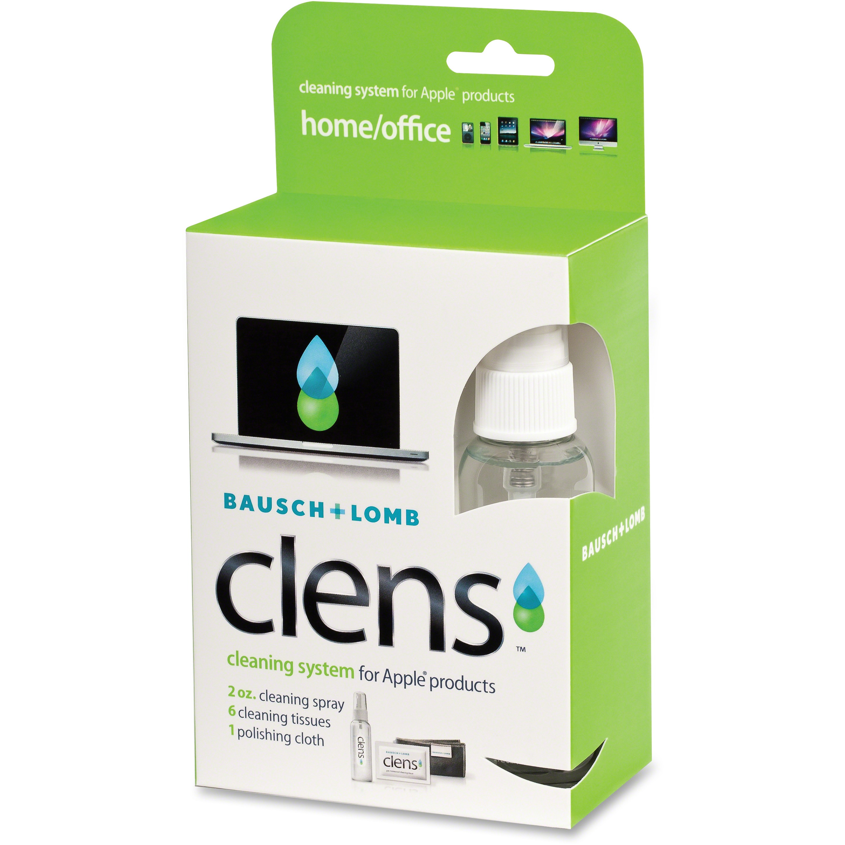 "Bausch & Lomb Clens Cleaning Product, 3 4/5"" x 2 1/4"""