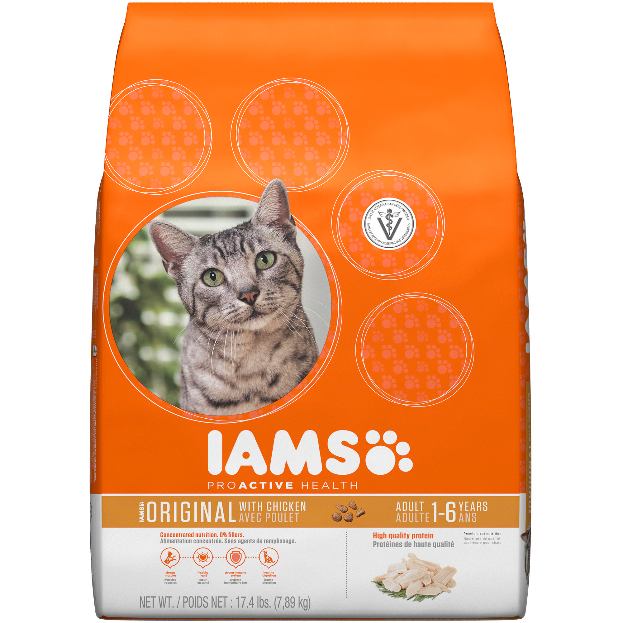 Iams ProActive Health Original with Chicken Premium Dry Cat Food 17.4 lbs