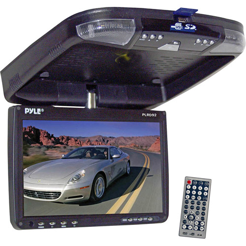 Pyle 9'' Flip-Down Roof-Mount Monitor and DVD Player