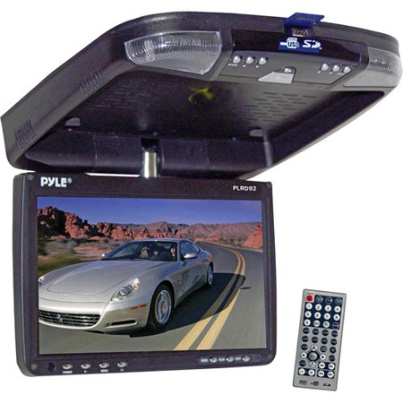 pyle 9 39 39 flip down roof mount monitor and dvd player. Black Bedroom Furniture Sets. Home Design Ideas