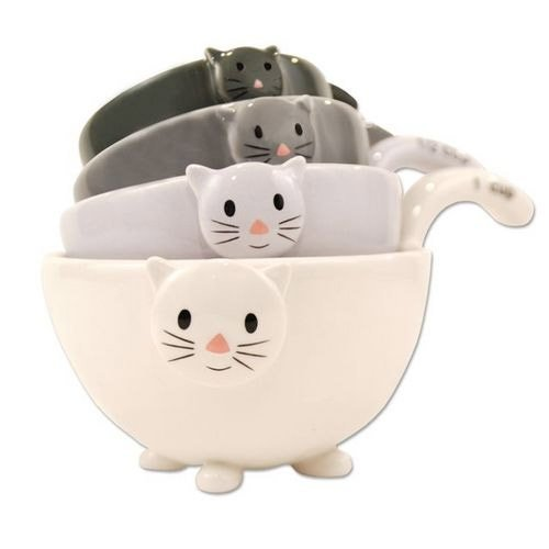 Ceramic Cat Measuring Cups Baking Bowls Walmart Com