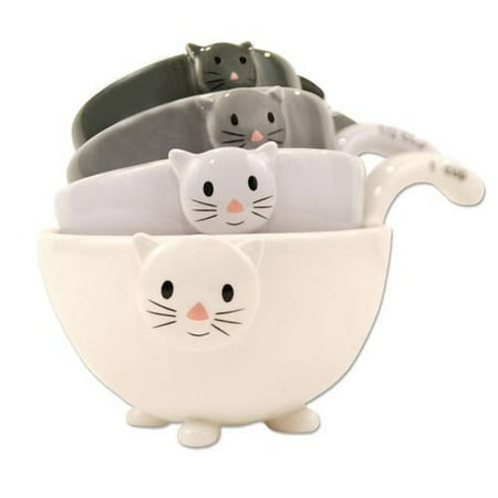 Ceramic Cat Measuring Cups/ Baking Bowls ()
