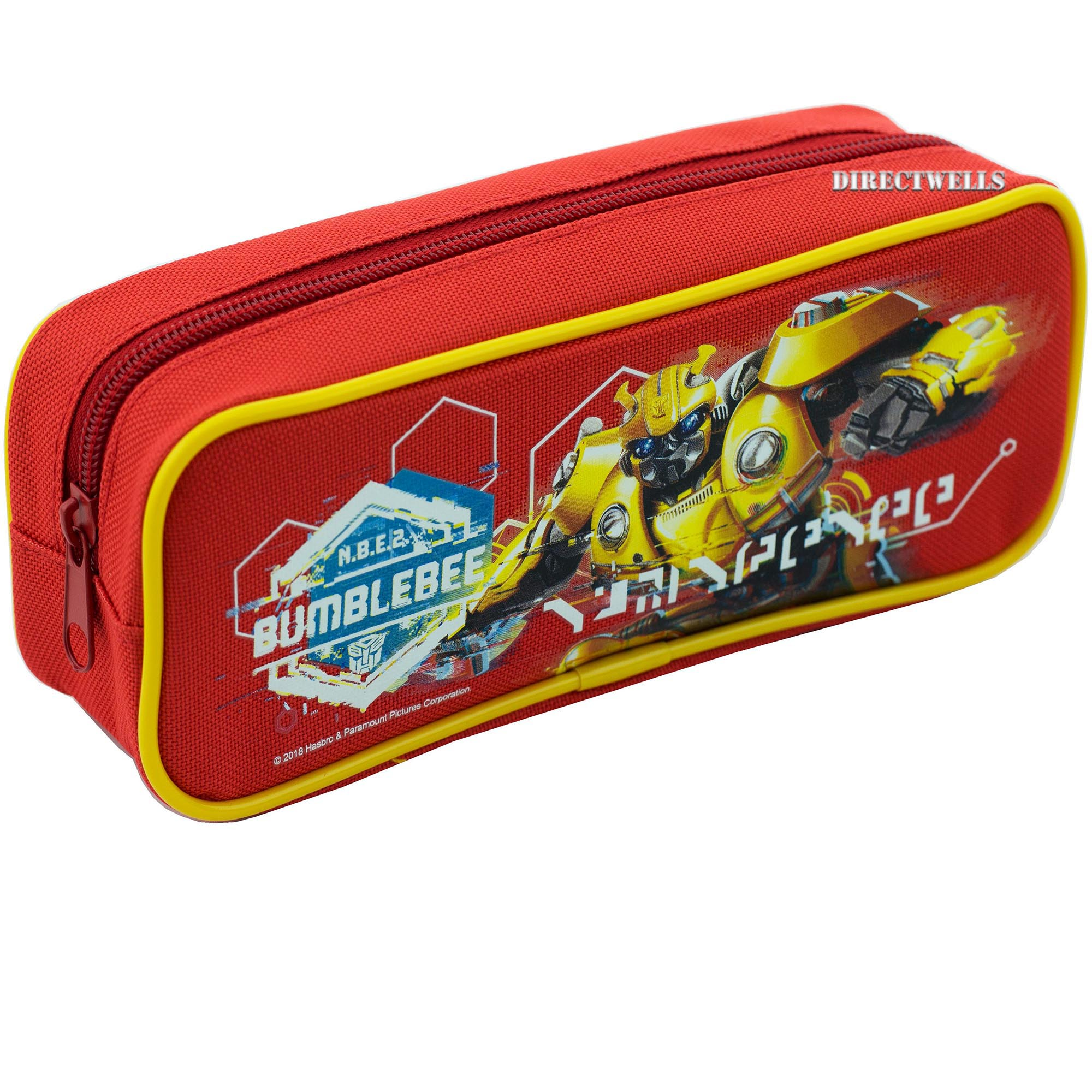Transformers Bumblebee Single Zipper Red Pencil Case