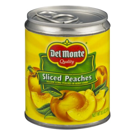 Del Monte Sliced Yellow Cling Peaches in Heavy Syrup, 8.5 oz