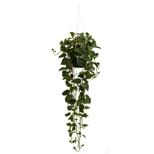 philodendron hanging basket silk plant. Black Bedroom Furniture Sets. Home Design Ideas
