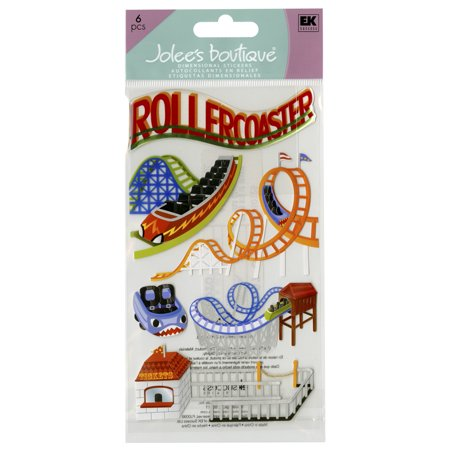 Jolee's Boutique Dimensional Stickers, Roller Coasters