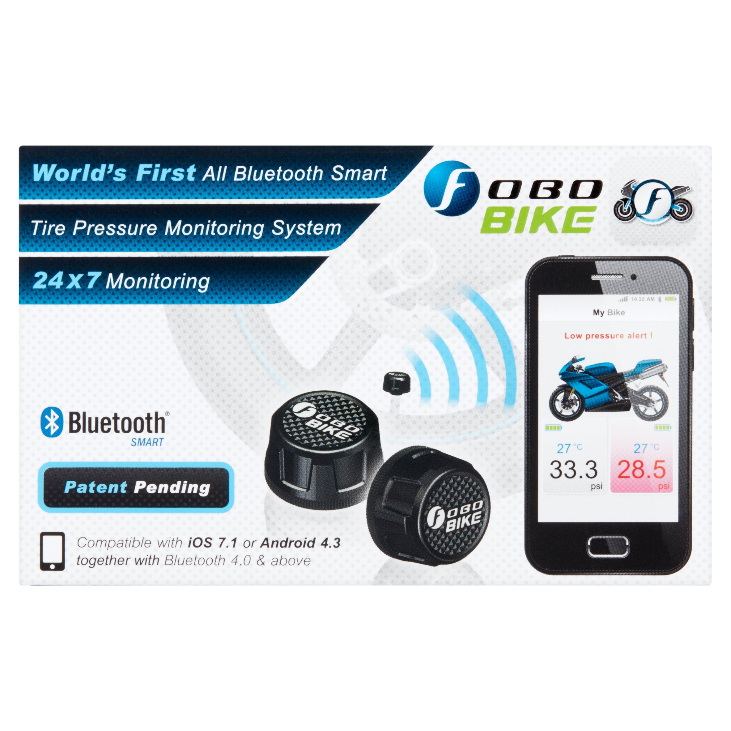 Fobo Bike Black Tire Pressure Monitoring System