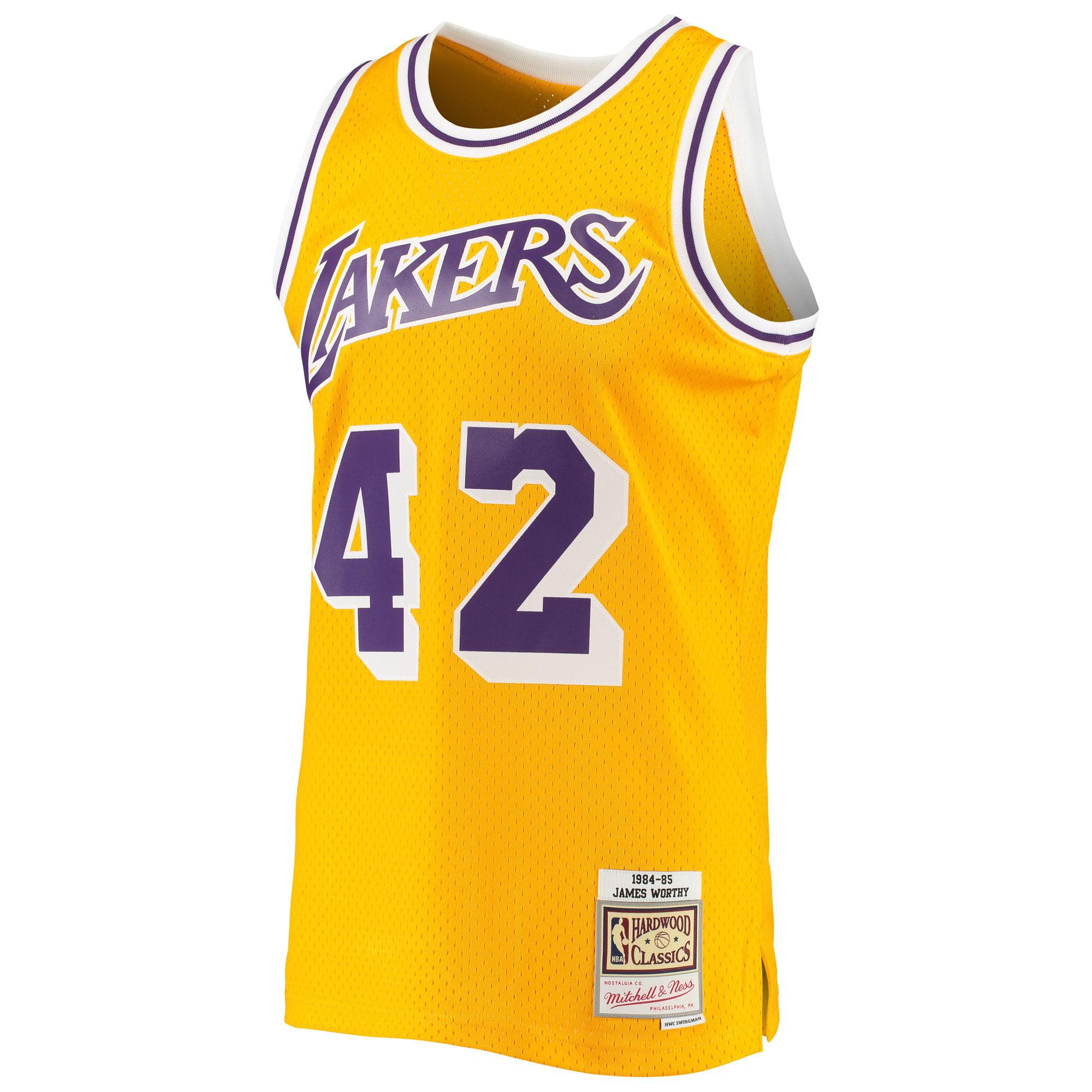 James Worthy Los Angeles Lakers Mitchell & Ness 1984-85 Hardwood Classics Swingman Jersey - Gold