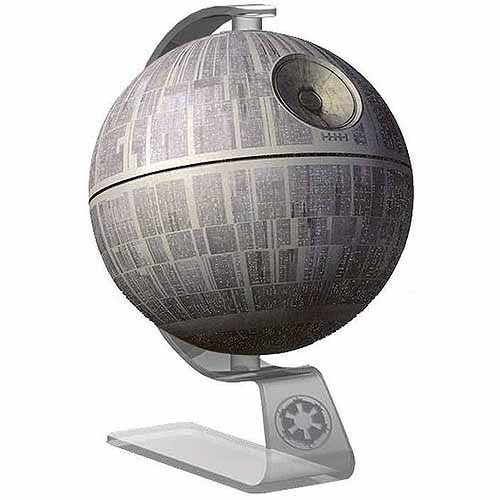 iHome 092298917030 Star Wars Death Li-B18 Portable Bluetooth Speaker Gray