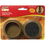 Madico 1-3/4 inch Plastic Wood grain Effect Cups with 100% polyester felt