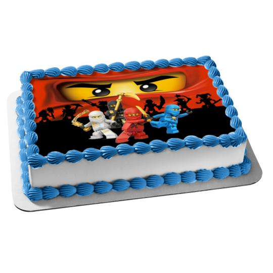 Cool Ninjago Lego Ninja Edible Image Photo Cake Frosting Icing Topper Funny Birthday Cards Online Inifofree Goldxyz