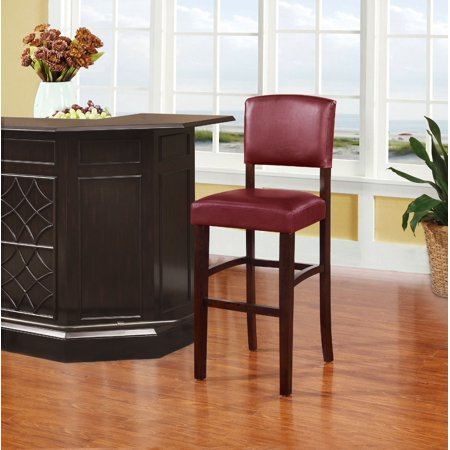 - Linon Monaco Bar Stool, 30 inch Seat Height, Multiple Colors