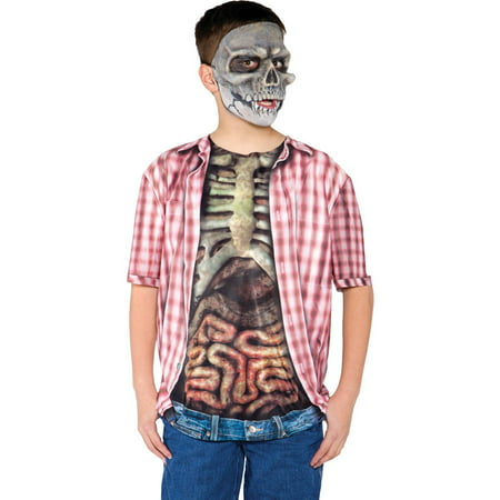 Skeleton with Guts Shirt Boys Child Halloween Costume