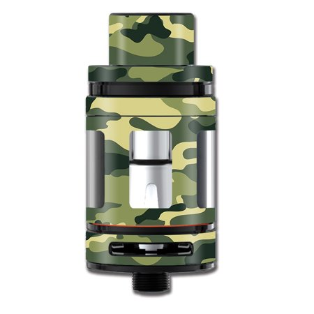 Skin Decal For Smok Mini Tfv8 Big Baby Beast Tank Vape Mod / Green Camo Original