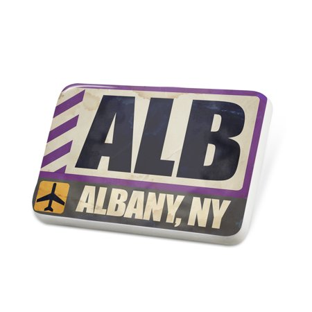 Porcelein Pin Airportcode ALB Albany, NY Lapel Badge – NEONBLOND](Party Store Albany Ny)