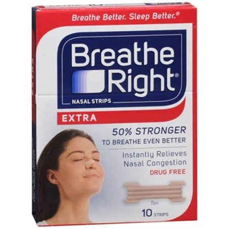 Breathe Right Nasal Strips Extra 10 Each  Pack Of 2