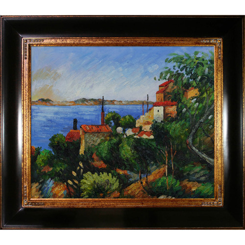 Tori Home La Mer Al'Estaque by Paul Cezanne Framed Original Painting