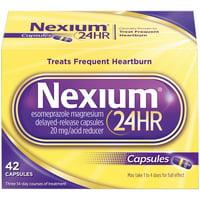 Nexium 24HR Capsules (20mg, 42 Ct) Delayed Release Heartburn Relief, Esomeprazole Magnesium Acid Reducer