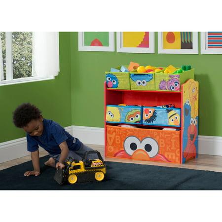 Sesame Street 6 Bin Toy Organizer by Delta Children