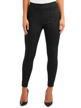 Sofia Jeans Victoria Leopard Foil Ponte Legging Women's