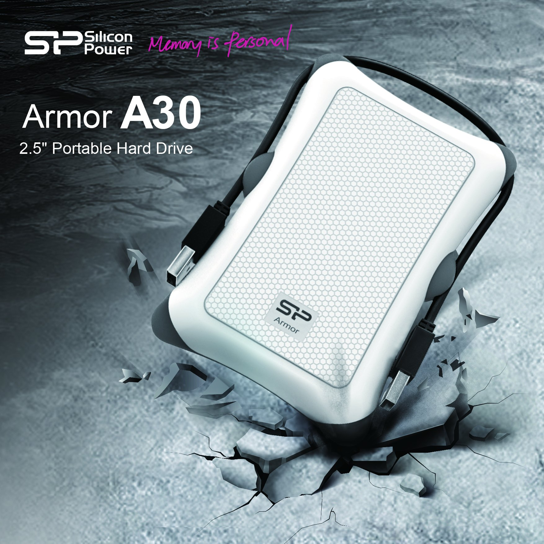 Silicon Power SP020TBPHDA30S3W Armor A30 Simply Provides The Best All-around Protection In An Amazingly Tough A