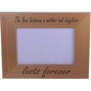 the love between a mother and daughter lasts forever wood picture frame holds 4 - Mother Daughter Picture Frame