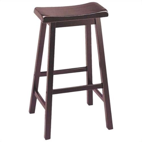 "ACME Furniture Gaucho 29"" Saddle Bar Stool in Walnut (Set of 2)"