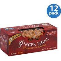 Anna's Ginger Thins Cookies, 5.25 oz (Pack of 12)