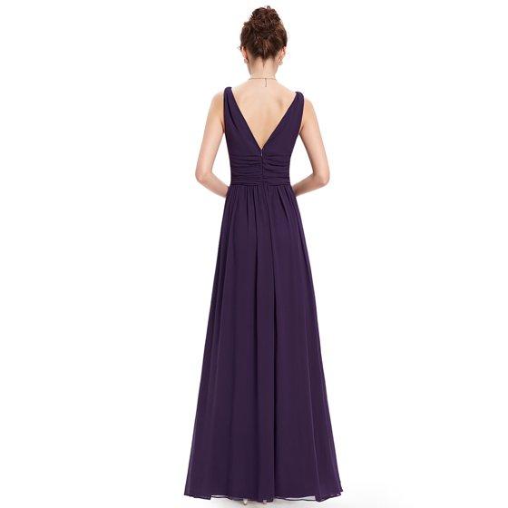 463338f910 Ever-Pretty - Ever-Pretty Women s V-Neck Long Plus Size Bridesmaid ...