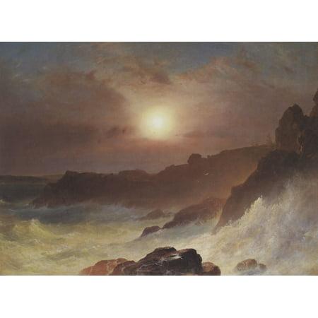 Framed Art for Your Wall Church, Frederick Edwin - Coast Scene, Mount Desert 10 x 13 Frame](Desert Scenes)