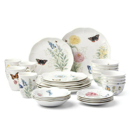 Butterfly Dinnerware - Lenox Butterfly Meadow 28 Piece Dinnerware Set