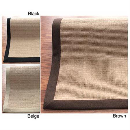 Handmade Alexa Eco Natural Fiber Cotton Border Jute Rug (6' x 9') ()