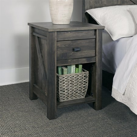 Ameriwood Home Farmington Nightstand, Weathered Oak