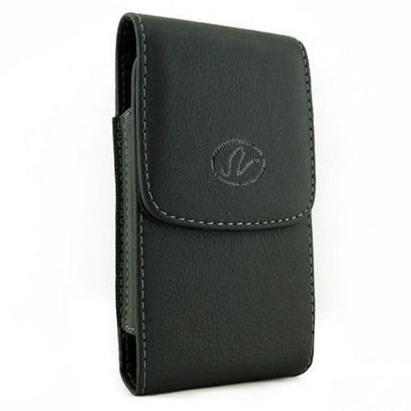 Premium Black Leather Case Cover Pouch Belt Clip BGD for LG X Venture - Motorola G4 Plus, Google Nexus 6, Moto E4 PLUS G4 Z Play Droid Z2 Play - Nokia 6 - Samsung Galaxy J7 V (2017), Note 2