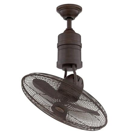 Craftmade Bellows III BW321 21 in  Indoor/Outdoor Reversible Oscillating  Ceiling Fan