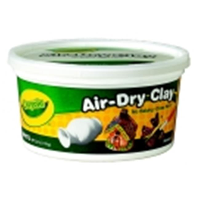 Crayola Air-Dry Easy-To-Use Durable Non-Toxic Self-Hardening Modeling Clay - White