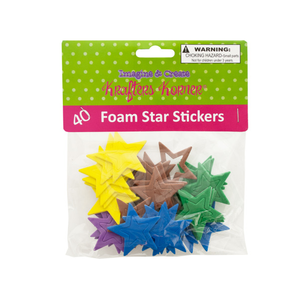 Foam Star Stickers (Pack Of 24)