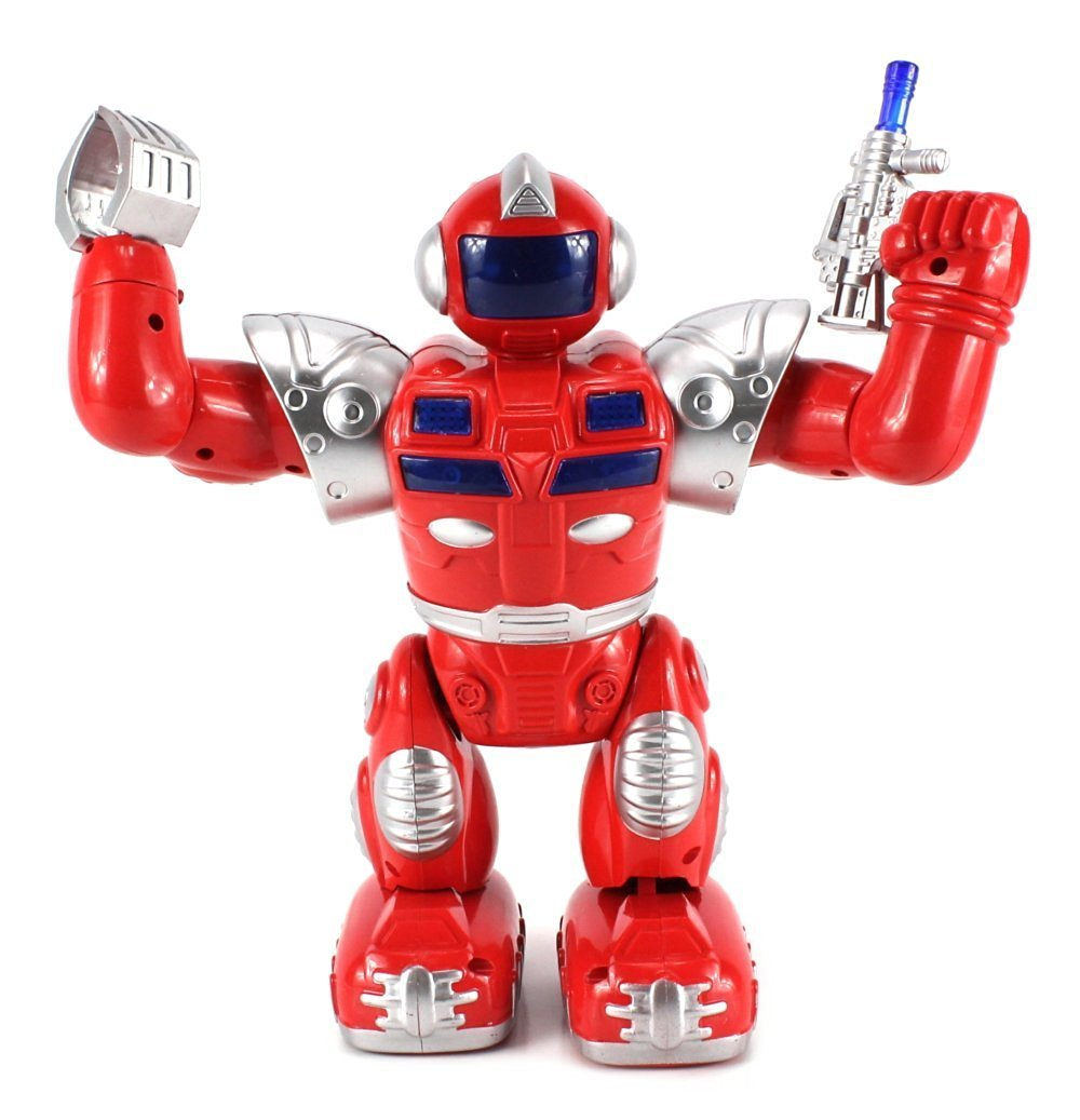 VT Super Robot v.2 Battery Operated Toy Figure w/ Flashing Lights, Plays Sounds (Colors May Vary)