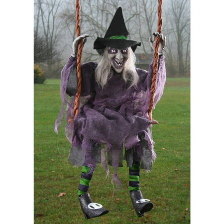 Swinging Witch Tall Halloween Decor, 36