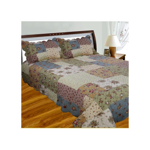 J&J Bedding Patchwork Square Quilt Collection