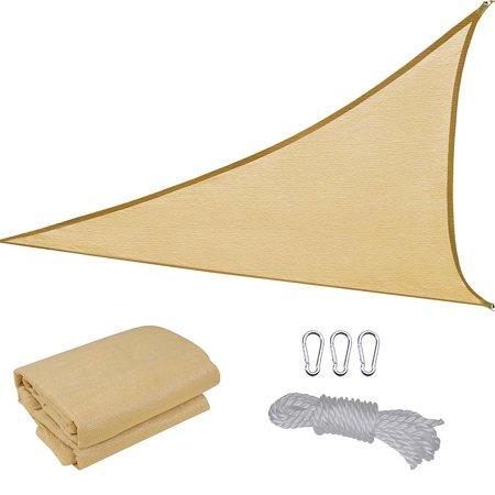 Yescom 11.5' Triangle Sun Shade Sail Patio Beach Canopy Cover Uv Block ()