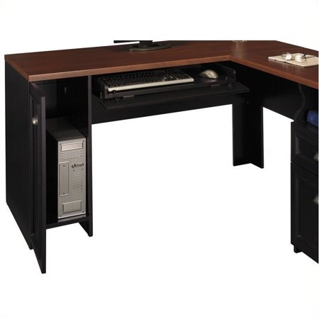 Pemberly Row L-Shaped Wood Computer Desk in Black - image 1 de 4