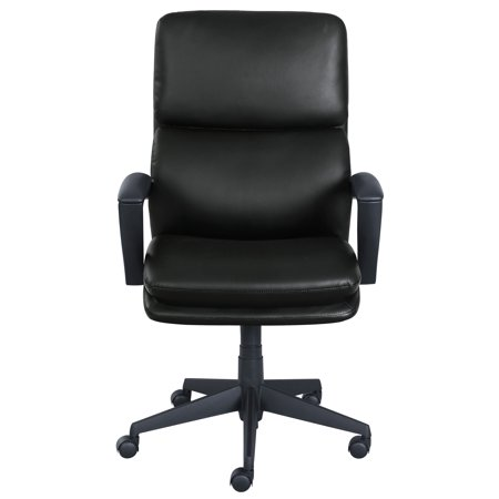 Serta Style Morgan Office Chair, Black Bonded Leather